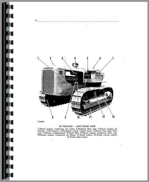 Caterpillar D6 Crawler Operators Manual