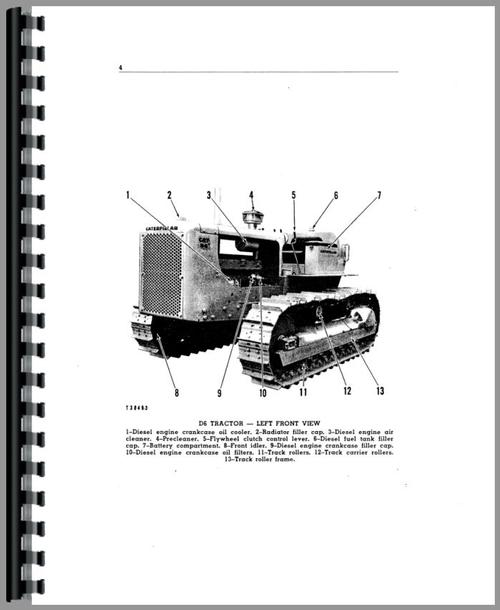 Caterpillar D6B Crawler Operators Manual