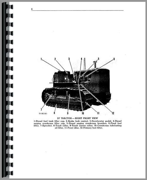 Caterpillar D7E Crawler Operators Manual