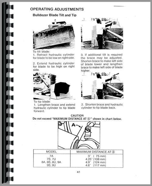 Caterpillar D7G Crawler Operators Manual