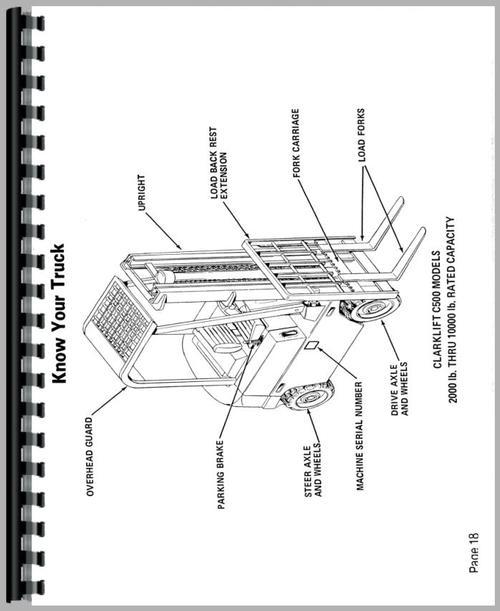 Clark C500 25P Forklift Operators Manual