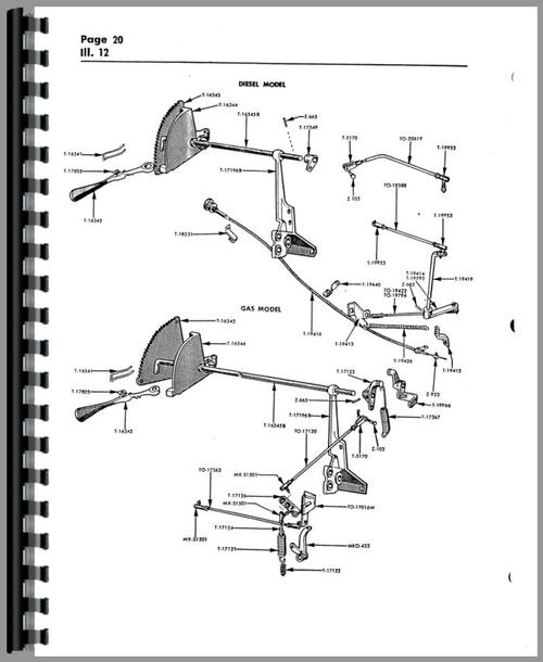 Cockshutt 550 Tractor Parts Manual