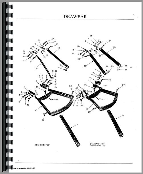 Cockshutt 60 Tractor Parts Manual