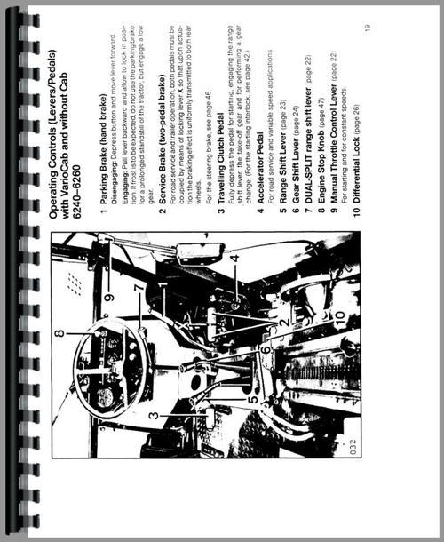 Deutz (Allis) 6265 Tractor Operators Manual