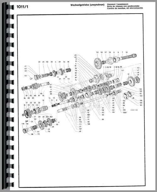 Deutz (Allis) D10006 Tractor Parts Manual
