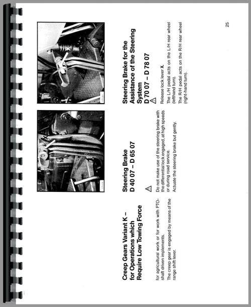 Deutz (Allis) D4007 Tractor Operators Manual