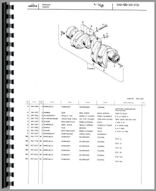Deutz (Allis) D4506 Tractor Parts Manual