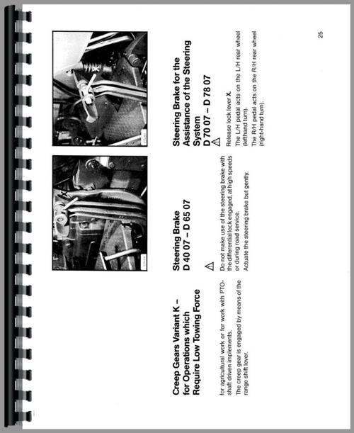 Deutz (Allis) D6507 Tractor Operators Manual