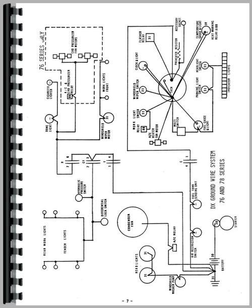 Deutz (Allis) DX110 Tractor Wiring Diagram Service Manual