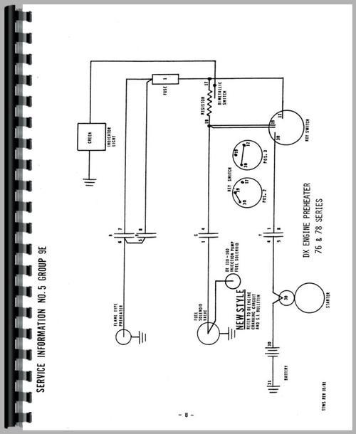 Deutz (Allis) DX160 Tractor Wiring Diagram Service Manual