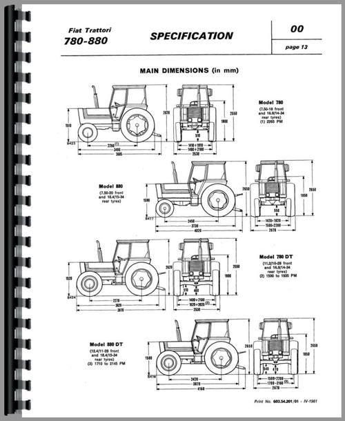Fiat 880-5 Tractor Service Manual