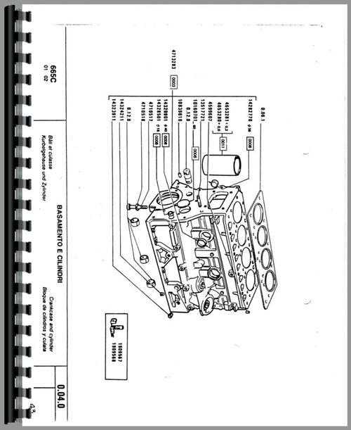 Fiat 665C Crawler Parts Manual