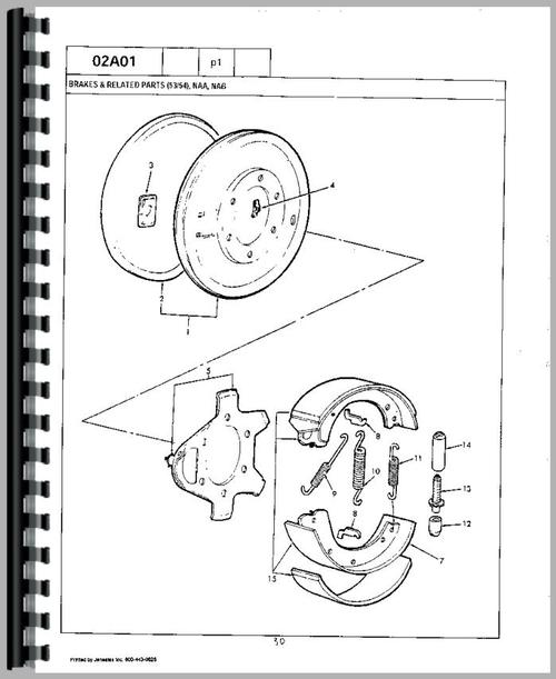 Ford 1801 Industrial Tractor Parts Manual