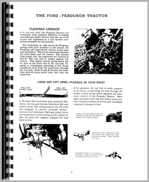 Ford 2N Tractor Operators Manual