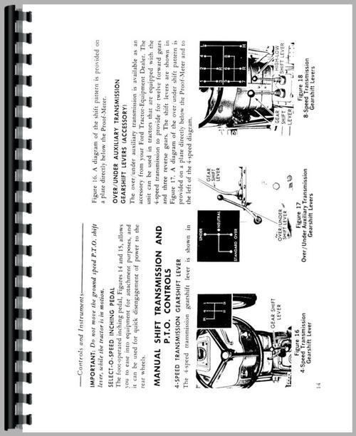 Ford 3000 Tractor Operators Manual