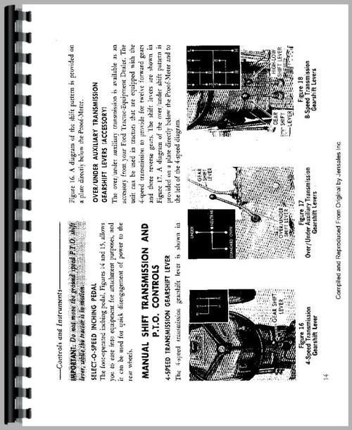 Ford 3310 Tractor Operators Manual