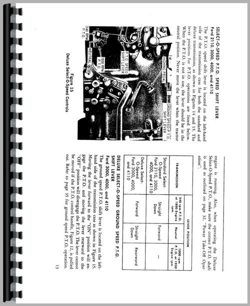 Ford 4200 Tractor Operators Manual