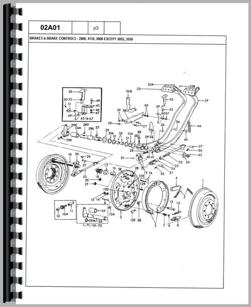 Ford 4410 Tractor Parts Manual