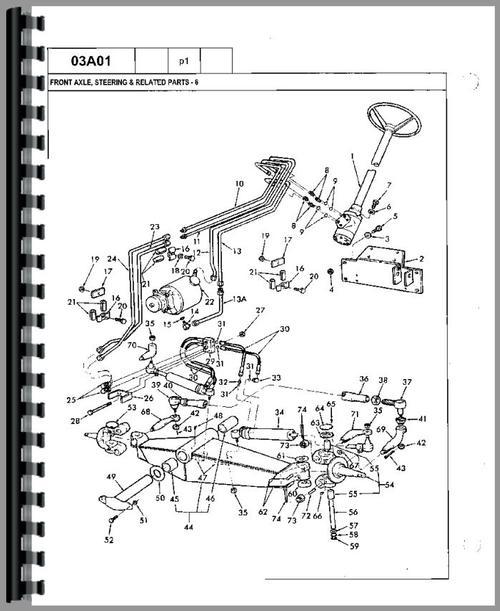 Ford 650 Tractor Loader Backhoe Parts Manual