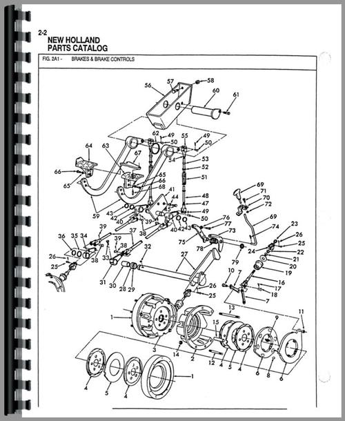 Ford 655A Industrial Tractor Parts Manual