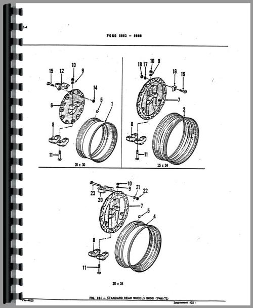 Ford 8600 Tractor Parts Manual