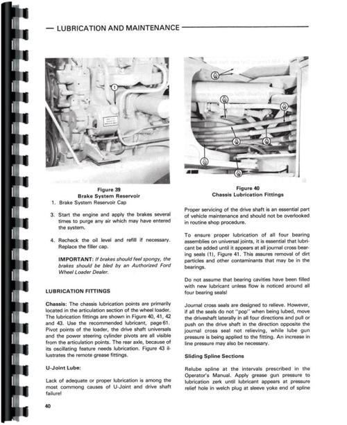 Ford A64 Wheel Loader Operators Manual
