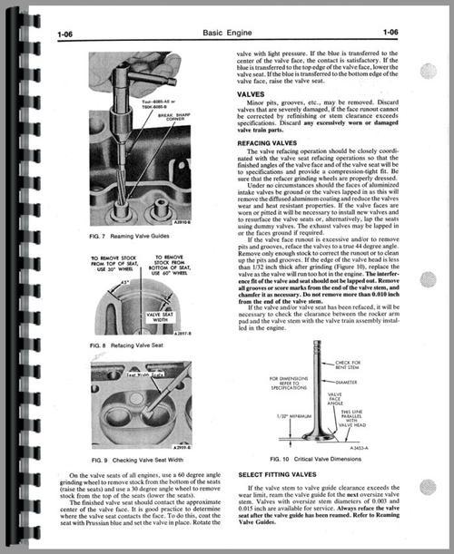Ford I-98 Engine Service Manual