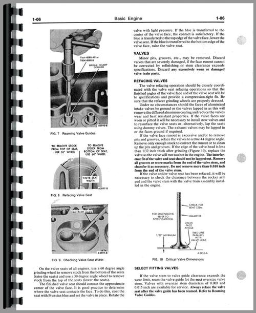 Ford KSG-416 Engine Service Manual
