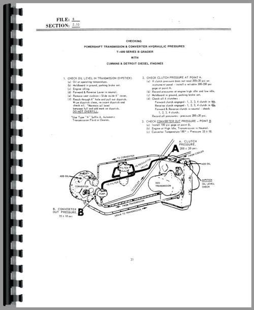 Galion D-565T Grader Service Manual
