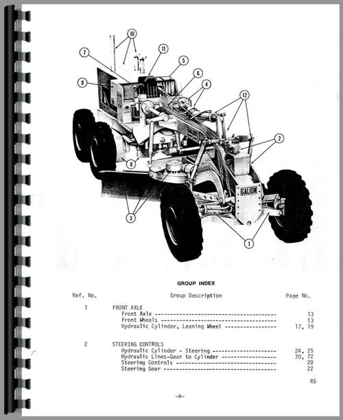 Galion T-600B Grader Parts Manual