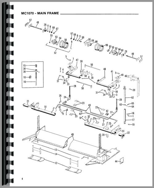 Gehl MC1090 Mower Conditioner Parts Manual