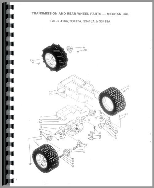 Gilson 33419A Lawn & Garden Tractor Parts Manual