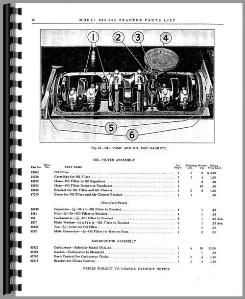 Graham Bradley all Tractor Parts Manual
