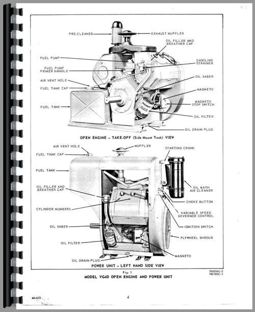 Hesston 300 Windrower Wisconsin Engine Service Manual