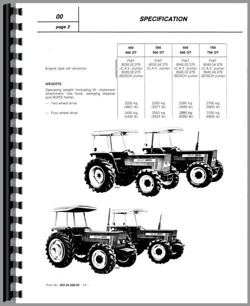 Hesston 666 Tractor Service Manual