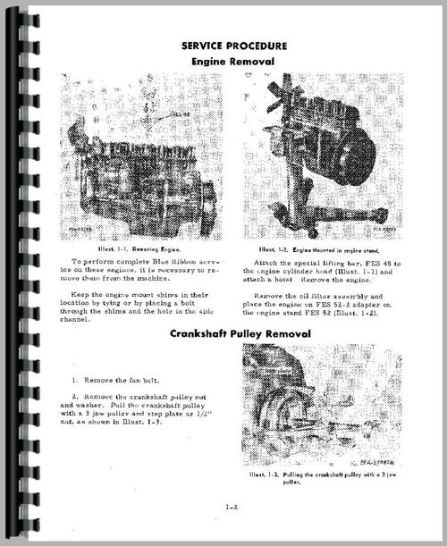 Galion 125P Crane IH Engine Service Manual