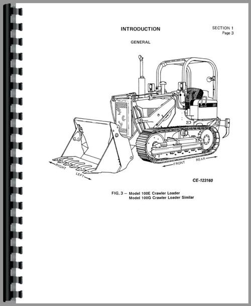 International Harvester 100E Crawler Service Manual
