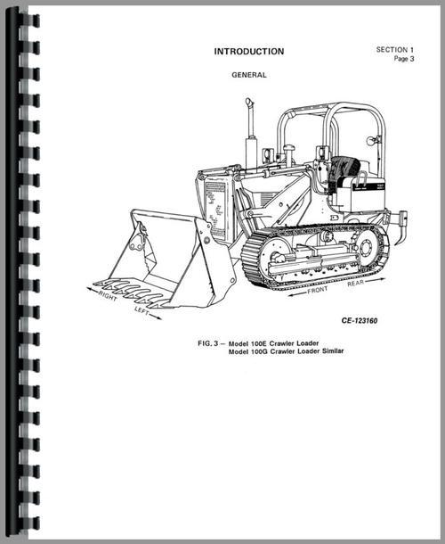 International Harvester 100E Crawler Service Manual