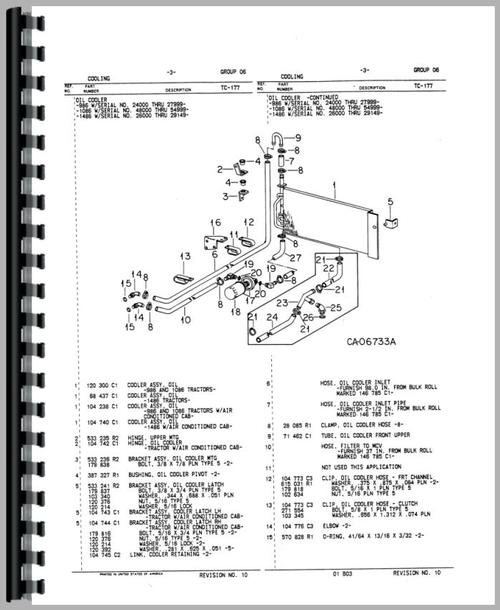 International Harvester 1086 Tractor Parts Manual