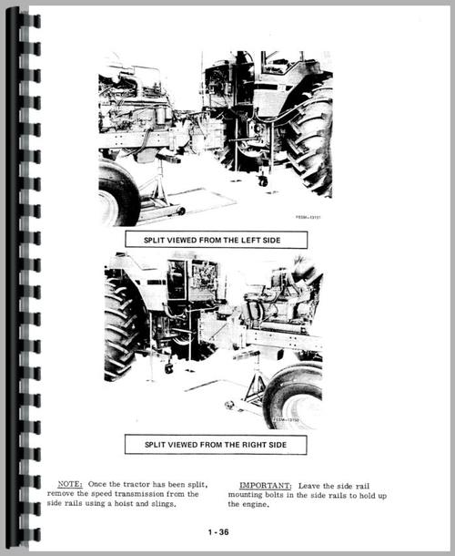 International Harvester 1086 Tractor Service Manual