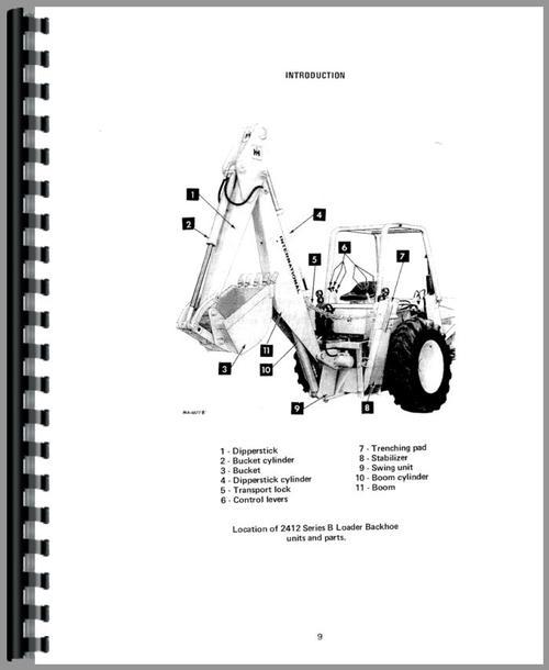 International Harvester 2405B Industrial Tractor Operators