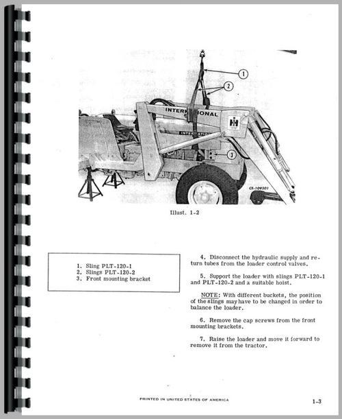 International Harvester 2500 Industrial Tractor Service Manual