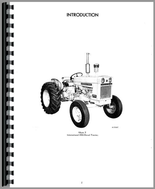 International Harvester 2504 Industrial Tractor Operators
