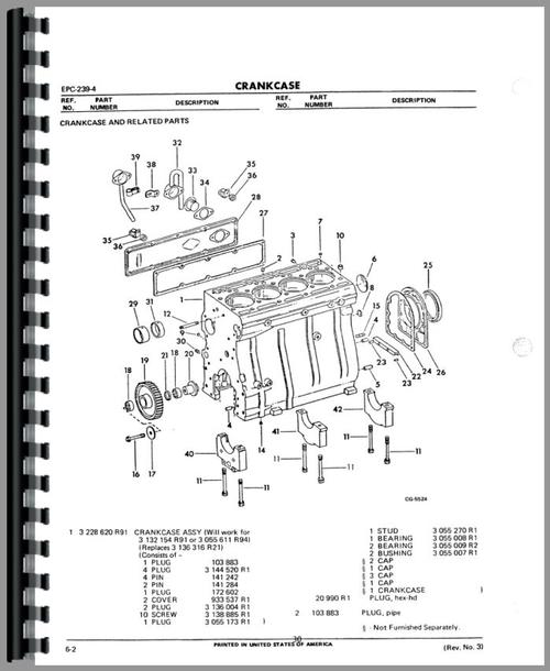International Harvester 250A Industrial Tractor Engine