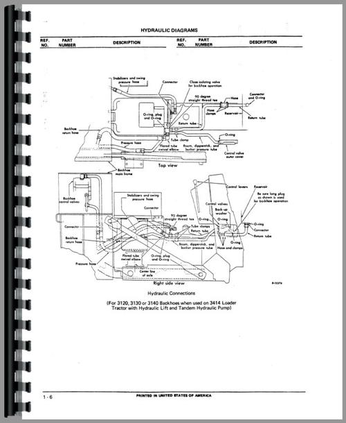 International Harvester 3082 Backhoe Parts Manual
