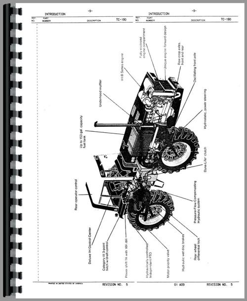 International Harvester 3388 Tractor Parts Manual