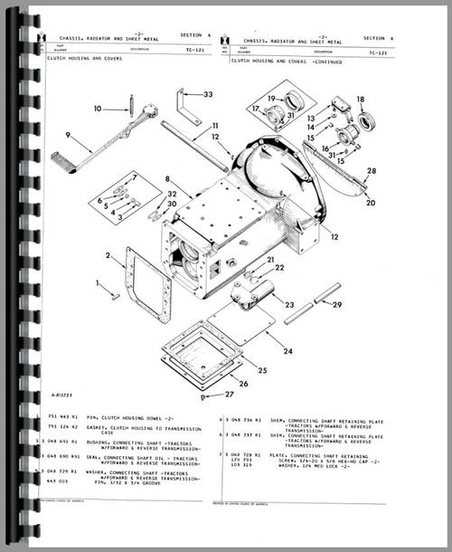 International Harvester 3444 Industrial Tractor Parts Manual
