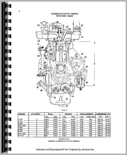 International Harvester 3514 Industrial Tractor Engine