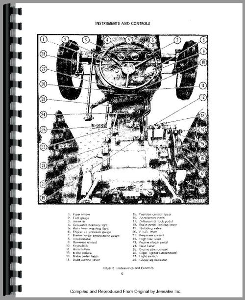 International Harvester 354 Tractor Operators Manual