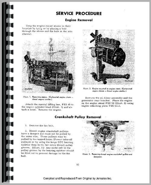International Harvester 3600A Industrial Tractor Engine